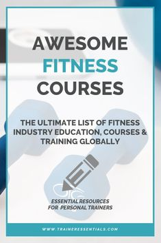 Fitness Industry Education - The Ultimate List of Global Courses & Training Fun Workouts, At Home Workouts, Personal Training Courses, Exercise Coach, Becoming A Personal Trainer, Fitness Motivation Photo, Fitness Courses, Strength And Conditioning Coach, Best Gym