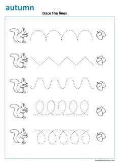 Emotions Preschool, Preschool Letters, Kindergarten Crafts, Preschool Learning Activities, Preschool Curriculum, Kindergarten Worksheets, Fall Preschool, Line Tracing Worksheets, First Grade Worksheets