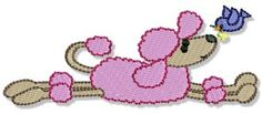 Oodles of Poodles 3 single machine embroidery design for instant download.