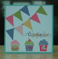 Julie Kettlewell - Stampin Up UK Independent Demonstrator - Order products Sarah-Janes birthday! Bday Cards, Kids Birthday Cards, Handmade Birthday Cards, Birthday Images, Birthday Quotes, Cricut Cards, Stampin Up Cards, Stampin Up Anleitung, Cupcake Card