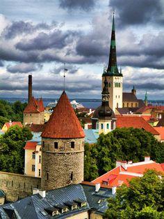 Tallin, in Estonia tallinn estonia, tallinestonia, rooftop, places, travel, citi, baltic, tallin estonia, destin