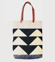 Triangle Canvas Tote Bag by McLoveBuddy