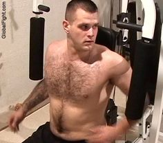Marine working out on his free time to stay active!
