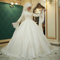 plus size gothic wedding dress for sale Hijabi Wedding, Pakistani Wedding Dresses, Wedding Dresses For Sale, Bridal Dresses, Weeding Dress, Wedding Dress Sleeves, Hijab Dress Party, Fairytale Bridal, Bridal Hijab