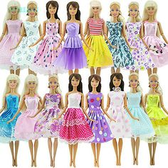 10PCS Handmade Party Clothes Fashion Dress for  Doll Mixed Charm FL/_sh