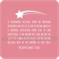 """""""How can a patriarchal blessing help me?"""" Young Women lesson helps and ideas. Much more than just handouts! www.LatterDayVillage.com"""