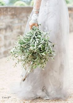 All-Greenery Wedding Bouquet For the Non-Traditional Bride Floral Wedding, Wedding Flowers, Tuscan Wedding, Barn Wedding Venue, Gray Weddings, Wedding 2017, Bride Bouquets, Bridesmaid Bouquet, Italy Wedding