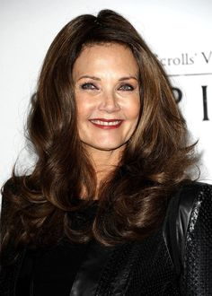 Lynda Carter, of Wonder Woman.  She looks so stunning to be 62 years old!!!