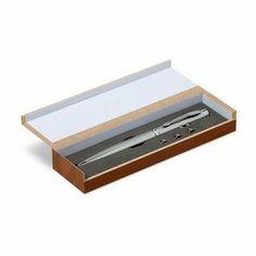 Bolígrafo plata con puntero táctil