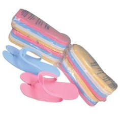 5dcf135586d323 Foam Disposable Pedicure Slippers  Flipflop. Assorted Colors. 360 PAIRS