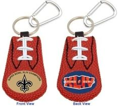 New Orleans Saints Football Keychain - Super Bowl 44 Champs Z157-4421403079