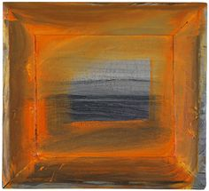 """Howard Hodgkin - The North Sea - 2000 - """"I've never painted an abstract picture in my life"""" proclaims Hodgkin. I love his free use of the figurative and that his painting can not be contained by it's frame Abstract Expressionism, Abstract Art, Abstract Paintings, Howard Hodgkin, Modern Art, Contemporary Art, Orange Painting, Abstract Pictures, Artist Art"""