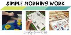 Morning work in the special education classroom doesn't have to be complicated, tons of prep, or stressful for kids or teachers! (( This post will contain affiliate links. You don't pay anymo…