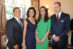 The Mayor of the City of Los Angeles. Antonio Villaraigosa, Lu Parker, Catherine, Duchess of Cambridge and Prince William, Duke of Cambridge attend a private reception at the British Consul-General's residence on July 8, 2011 in Los Angeles, California. The newly married Royal couple are on a three day visit to Southern California.