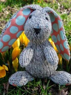 Edmund Easter Bunny    I like the size of this and the fabric ears which could be made in a fluffy yarn.