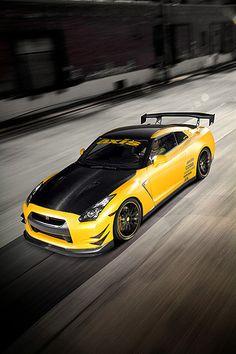 #Yellow Nissan GT-R (by Scott Dukes)