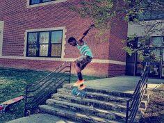 Here's Die Hard SockGuy Fan Alston Watson skateboarding at Roanoke Rapids High School in Roanoke, NC. Check out his story on our blog:http://blog.sockguy.com/