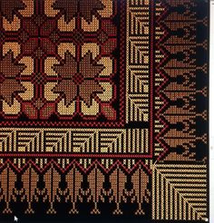 Palestinian Embroidery, Diy Carpet, Bedroom Carpet, Carpet Runner, Needlepoint, Bohemian Rug, Diy And Crafts, Weaving, Cross Stitch
