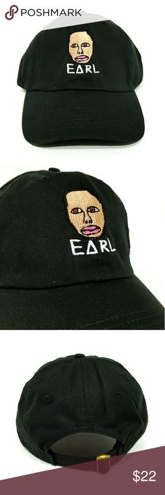Earl Sweatshirt Hat $$******READ DESCRIPTION*****$$   *New adjustable hat   *If posted still available   *I ship next day if purchased before 5 PM on Sunday and 7.30 PM every other day, if purchased after hours it will be shipped the day after tomorrow   *Shipping takes about 5 days please don't rate based off shipping speeding i don't control USPS   *Trusted seller buy with confidence. Accessories Hats