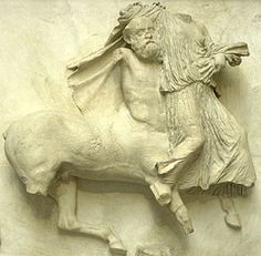 A centaur attacking a woman, Parthenon frieze