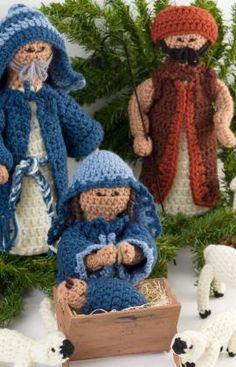 Nativity Set Free Crochet Pattern from Red Heart Yarns
