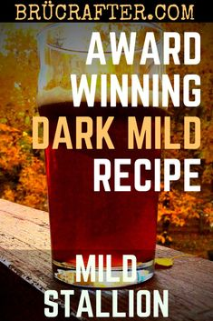 While not a widely known style in the US, a British Dark Mild is a fantastic session-strength beer that is great to have around any time of year. Beer Brewing Kits, Brewing Recipes, Homebrew Recipes, Beer Recipes, Recipies, Mead Recipe, Ale Recipe, Beer Ingredients, Craft Beer