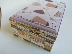 50's Fabric Style Jewellery Box