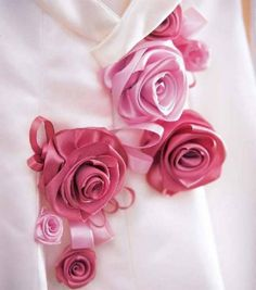#Ribbon roses -- fresh all day for your #wedding :)