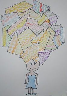 art lesson, maybe do tessellations for the hair?