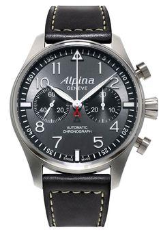 Alpina Startimer Pilot Chronograph. Professional Pilot watch. Swiss Made.