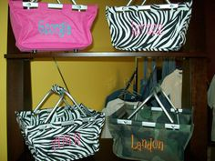 personalized monogrammed market totes