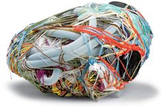 The celebrated sculptures of Judith Scott (1943-2005), a deaf-mute artist with Down syndrome, were made by wrapping wool around sometimes precious objects, and refuse simple interpretation.