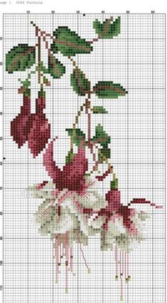 This Pin was discovered by Мар Beaded Embroidery, Cross Stitch Embroidery, Embroidery Patterns, Hand Embroidery, Crochet Patterns, Cross Stitch Charts, Cross Stitch Patterns, Pixel Crochet, Cross Stitch Flowers