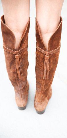 Clara Tassel OTK Boots | The Frye Company