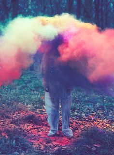 Louis Lander Deacon (UK) - One. Eight [more Louis Lander Deacon Colored Smoke, Pink Smoke, Colored Chalk, Trippy, Art Photography, Forest Photography, Powder Paint Photography, Fashion Photography, Grunge Photography