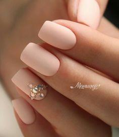 and Beautiful Nail Art Designs Gem Nails, Love Nails, Pretty Nails, Hair And Nails, Classy Nails, Stylish Nails, Bridal Nails, Wedding Nails, Studded Nails