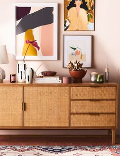 Exhibiting a beautiful display of caning, this sideboard offers a tactile sophistication that is both of the moment and a timeless representation of furniture design. Decor, Furniture, Sideboards Living Room, Interior, Home Decor, Apartment Decor, Sideboard Styles, Interior Design, Furniture Design