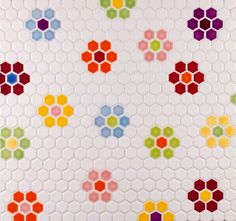 flooring pattern Inspiration and design ideas from Portlands premier tile manufacturer and showroom. Pratt and Larson - Tile Handmade in America. Best Bathroom Flooring, Penny Tile, Bathroom Kids, Small Bathroom, Retro Bathrooms, Downstairs Bathroom, Kids Bath, Modern Bathroom, Hexagon Tiles