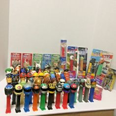 Large collection of Pez dispensers and keychains-over 60! Some of the dispensers include I have no idea where many of the dispensers were manufactured. The display cards have edge wear from storage.   eBay!
