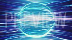 Blue Energy Sphere Background