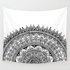 Half Mandala Wall Tapestry