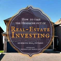 "How to build a Real Estate Investing Business that you can be proud of. N3443442 - $999,900 Deatched House for Sale, Richmond Hill, ON ""Assume Seller As Tenant"" Lease-Back Deal, Offer date: 31st March 2016. http://www.torontoreal-estate.biz/featured-listings/4-nantucket-dr-richmond-hill-on-n3443442-1073992097.12?SearchId=0d326cc517831ef96b44d1ee46f3f799"