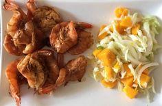 Camarones+al+jengibre+y+ensalada+de+mango