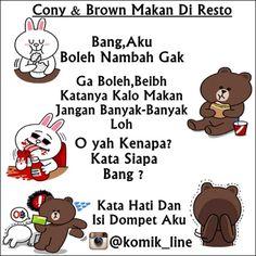 """@komik_line's photo: """"Jeritan isi dompet jeng cony  #komik_line"""""""