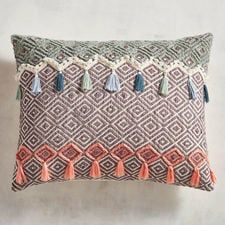Our geometric pillow goes a step further by adding depth, texture and tassels atop its hand-woven diamond pattern. It's sure to energize any space that's currently ho-hum. Modern Throw Pillows, Decorative Throw Pillows, Llama Pillow, Floral Cushions, New Business Ideas, Geometric Pillow, Diamond Pattern, Botanical Prints, Home Textile