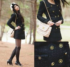 Tweed and bows (by Isabel Z) http://lookbook.nu/look/3891162-tweed-and-bows