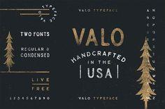 Valo | A Handmade Typeface Duo by Nicolas Fredrickson on @creativemarket