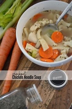 Crockpot Chicken Noodle Soup Recipe | theidearoom.net