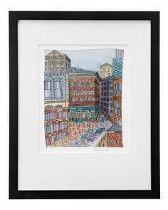 REMEMBERING BOSTON - RENEE LEONE | watercolor painting, harvard, college | UncommonGoods