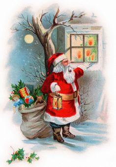 Santa at the window
